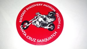 Bigfoot Biker Sticker